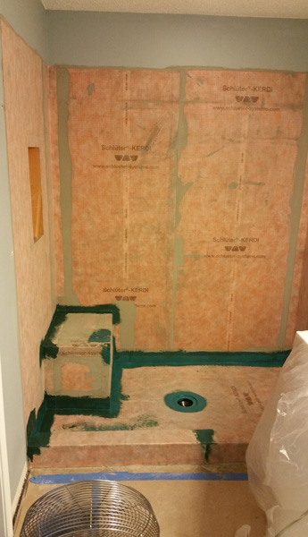 Vison DBR uses the Schluter System in a Bathroom Remodel